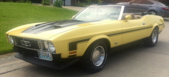 1973 Ford Mustang Convertivle, 351 Cleveland, Yellow