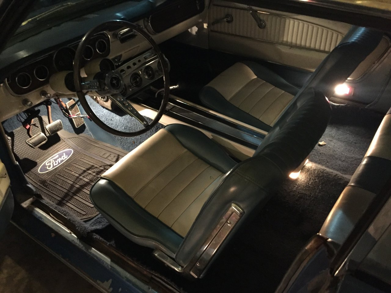 Pony Interior: 1965 Mustang A Code 4 Speed Factory Air Pony Interior Equalock
