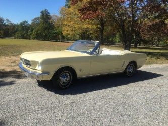 1965 Mustang Convertible Yellow