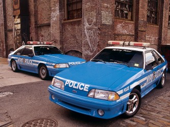 NYPD Mustang GT's