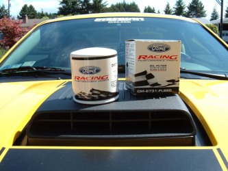 Ford Racing oil filter sitting on my Mach 1