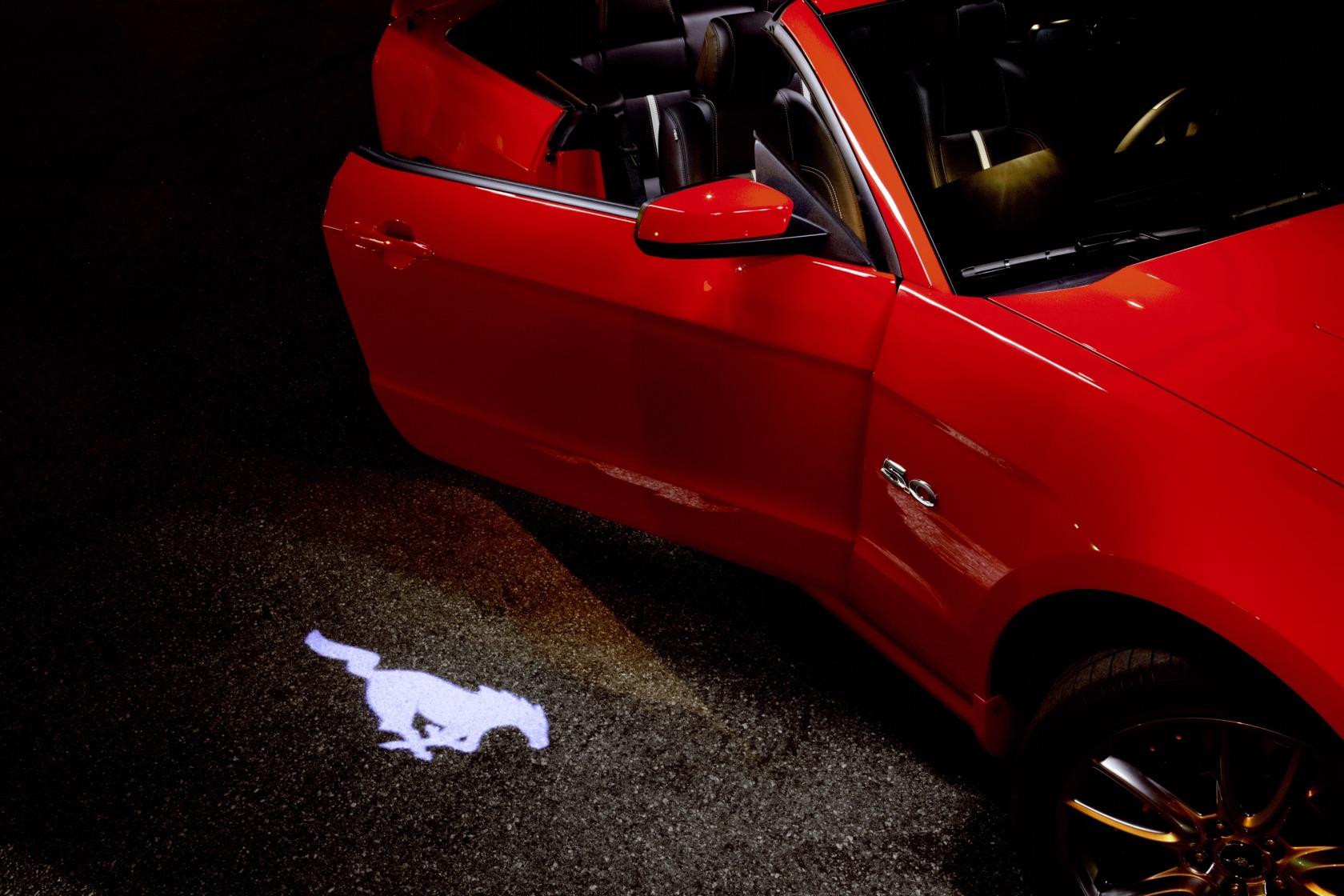 2013 Pony Projection Door Light Ford Mustang Photo
