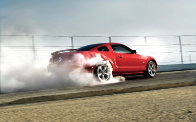 2009 mustang gt burnout (widescreen)