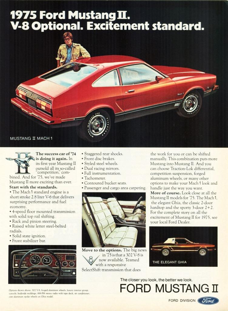 Ford Mustang History: 1975 | Shnack.com