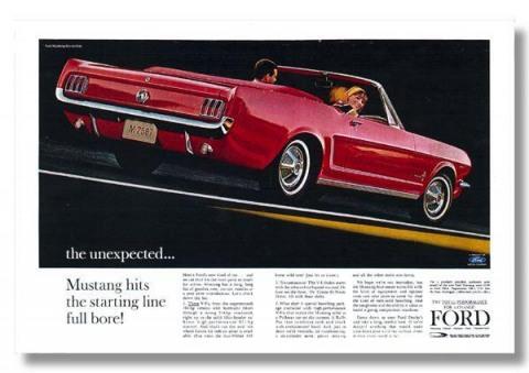 1964 Mustang Advertisement