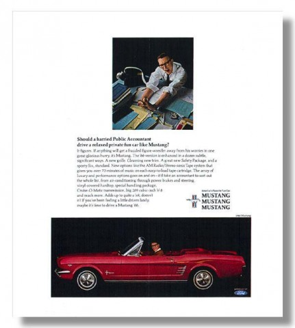 1966 Mustang Advertisement