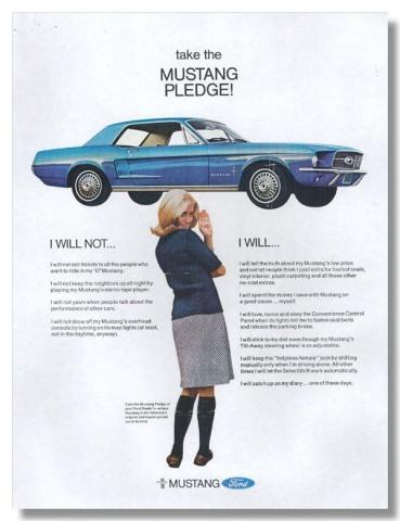 1967 Mustang Advertisement