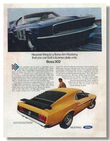 1970 Mustang Advertisement