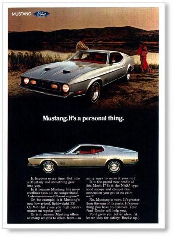 1971 Mustang Advertisement