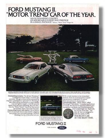 1974 Mustang Advertisement