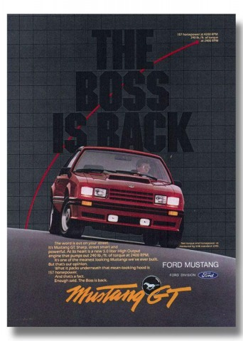 1982 Mustang Advertisement