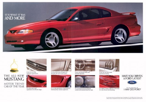 1994 Mustang Advertisement