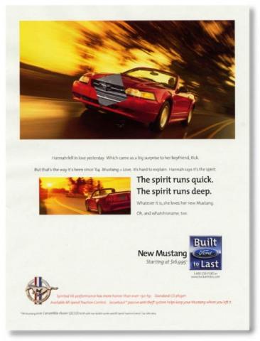 1999 Mustang Advertisement